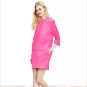 Banana Republic Monogram Neon Pink Shift Dress